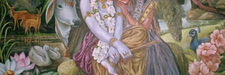 Why Krishna's name is taken after Radhe?