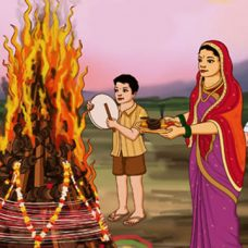 Holi Puja on the eve of Holi
